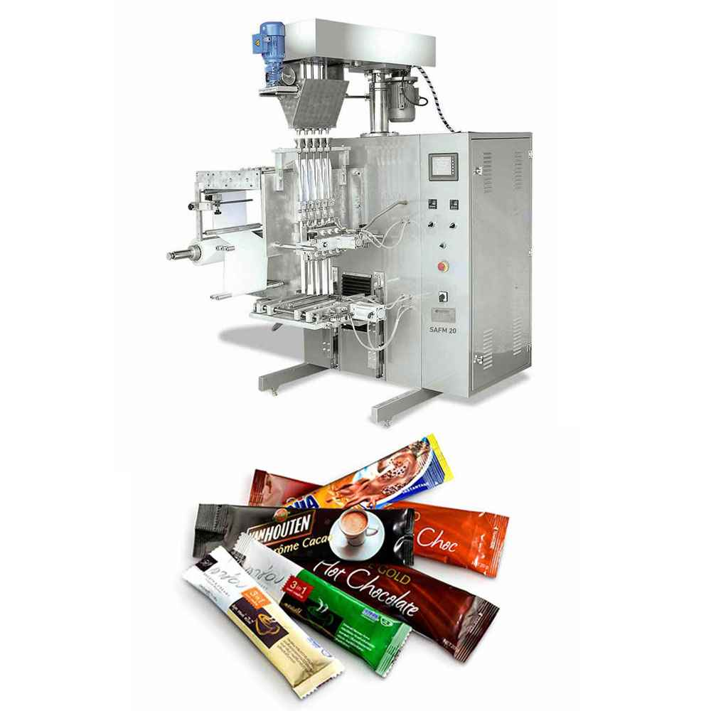 Stick Type Sugar, Coffee, Cream Filling and Packaging Machine