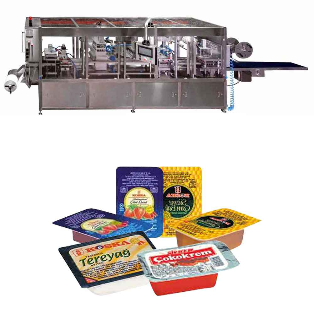 Butter, Honey, Jam Chocolate  Thermoforming Filling and Sealing  Machine