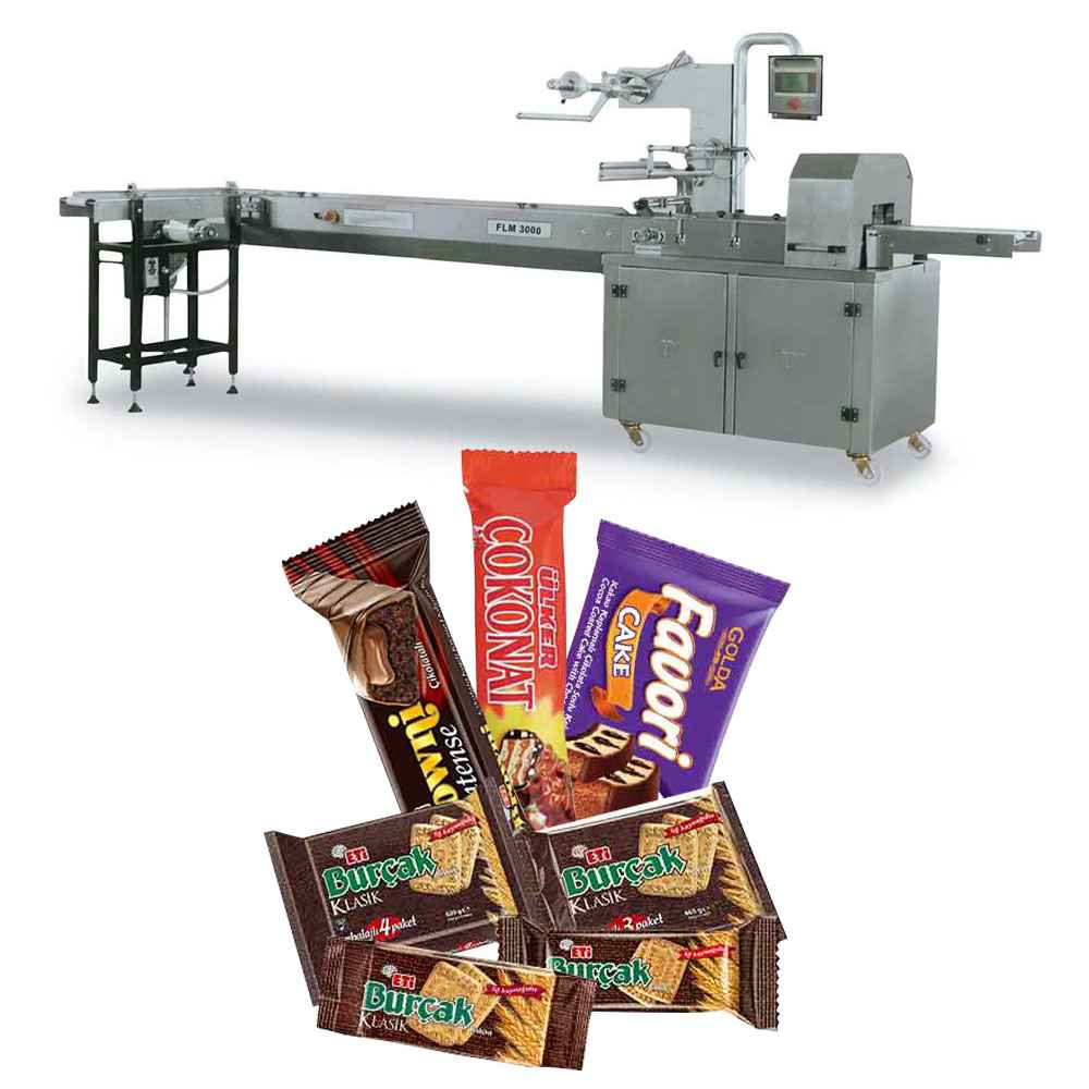 Biscuit, Chocolate, Waffle Packaging with PVC Band Feeding