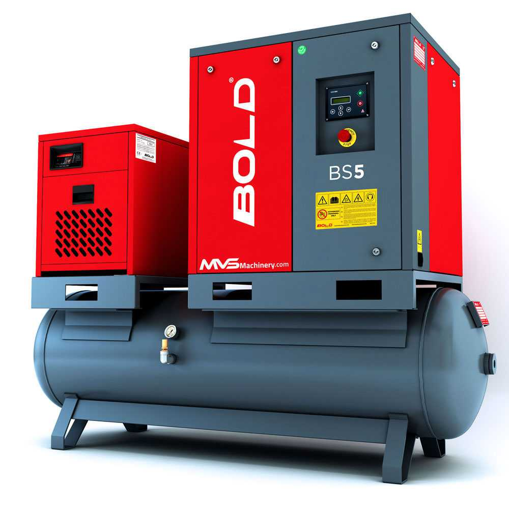 Tank Mounted Screw Air Compressors