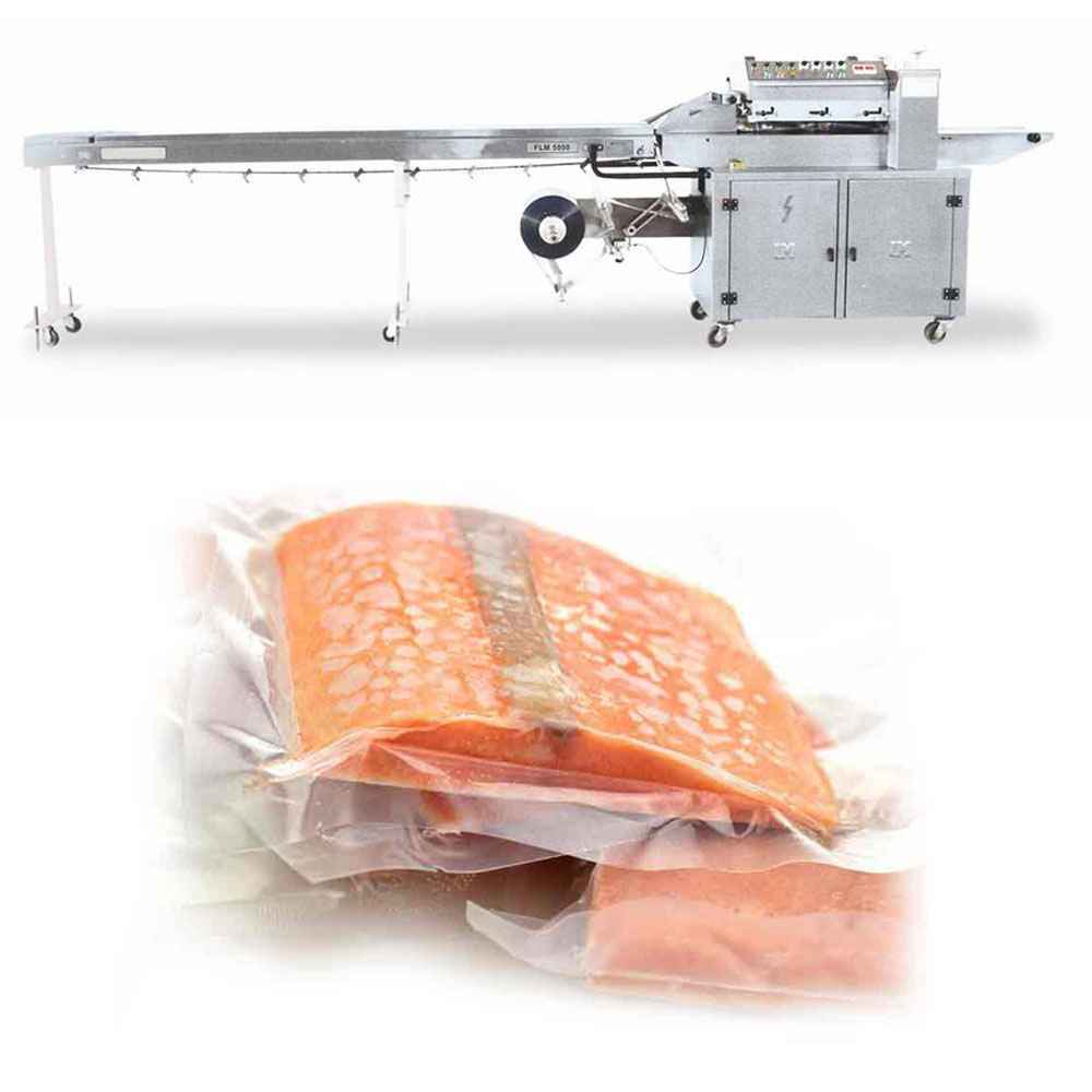 Bottom Wrapped Reverse Horizontal Flow Pack Packing Machine